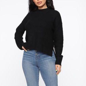 BN Black Mock Neck Sweater